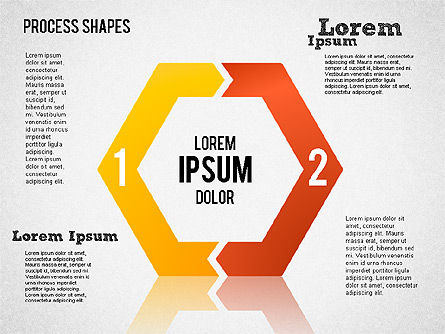 Process Geometric Shapes Toolbox, Slide 3, 01423, Process Diagrams — PoweredTemplate.com