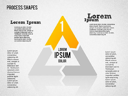 Process Geometric Shapes Toolbox, Slide 4, 01423, Process Diagrams — PoweredTemplate.com