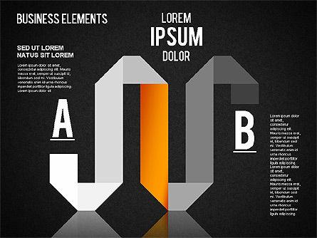 Origami Style Shapes, Slide 10, 01427, Process Diagrams — PoweredTemplate.com