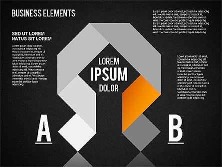 Origami Style Shapes, Slide 12, 01427, Process Diagrams — PoweredTemplate.com