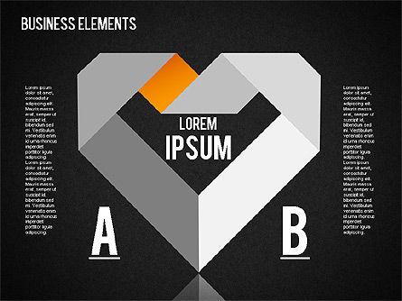 Origami Style Shapes, Slide 13, 01427, Process Diagrams — PoweredTemplate.com