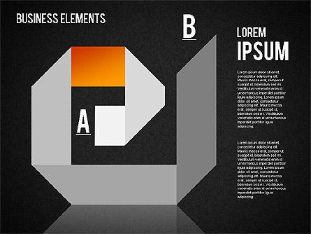 Origami Style Shapes, Slide 14, 01427, Process Diagrams — PoweredTemplate.com