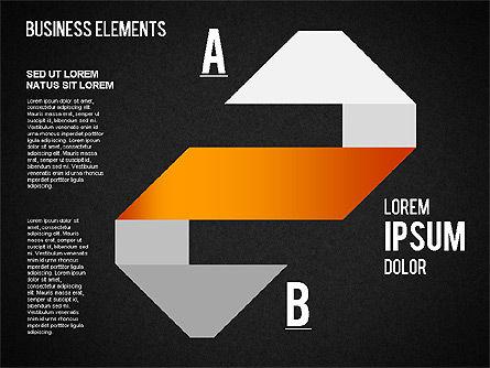 Origami Style Shapes, Slide 15, 01427, Process Diagrams — PoweredTemplate.com