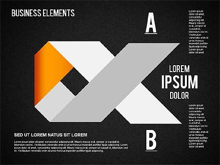 Origami Style Shapes, Slide 16, 01427, Process Diagrams — PoweredTemplate.com