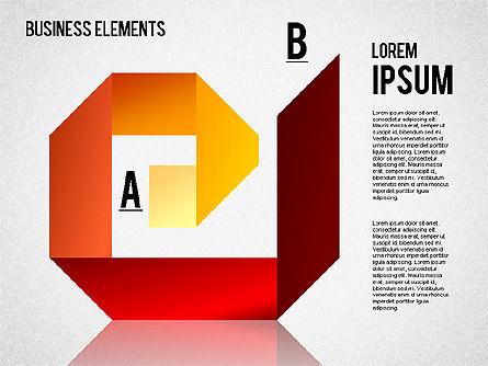 Origami Style Shapes, Slide 5, 01427, Process Diagrams — PoweredTemplate.com