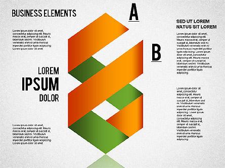Origami Style Shapes, Slide 6, 01427, Process Diagrams — PoweredTemplate.com