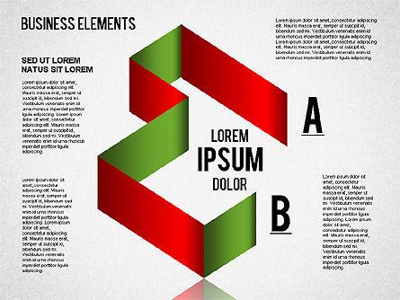 Origami Style Shapes, Slide 7, 01427, Process Diagrams — PoweredTemplate.com