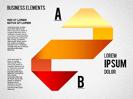 Origami Style Shapes, Slide 8, 01427, Process Diagrams — PoweredTemplate.com