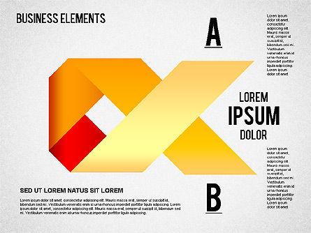 Origami Style Shapes, Slide 9, 01427, Process Diagrams — PoweredTemplate.com