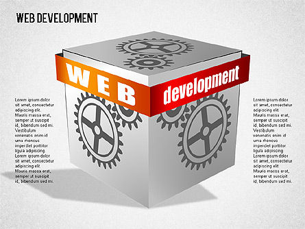 Web Development Diagram, Slide 9, 01428, Business Models — PoweredTemplate.com