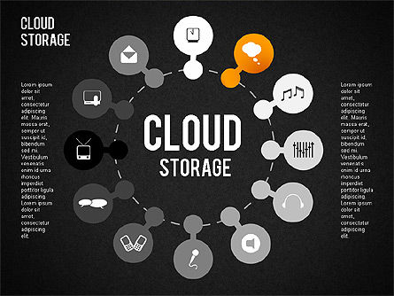 Cloud Storage Infographics, Slide 10, 01433, Business Models — PoweredTemplate.com