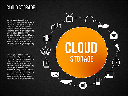 Cloud Storage Infographics, Slide 12, 01433, Business Models — PoweredTemplate.com