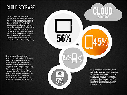 Cloud Storage Infographics, Slide 15, 01433, Business Models — PoweredTemplate.com