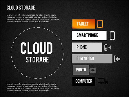 Cloud Storage Infographics, Slide 16, 01433, Business Models — PoweredTemplate.com