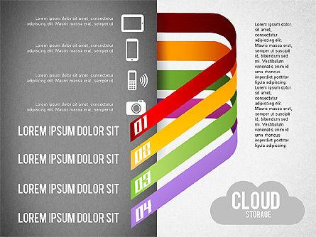Cloud Storage Infographics, Slide 2, 01433, Business Models — PoweredTemplate.com