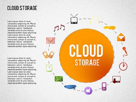 Cloud Storage Infographics, Slide 3, 01433, Business Models — PoweredTemplate.com
