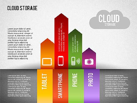 Cloud Storage Infographics, Slide 4, 01433, Business Models — PoweredTemplate.com