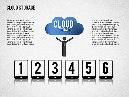 Cloud Storage Infographics, Slide 5, 01433, Business Models — PoweredTemplate.com
