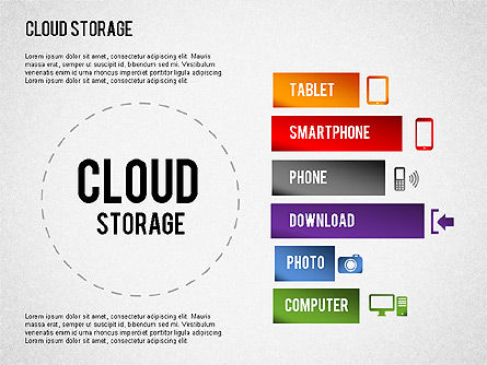 Cloud Storage Infographics, Slide 7, 01433, Business Models — PoweredTemplate.com
