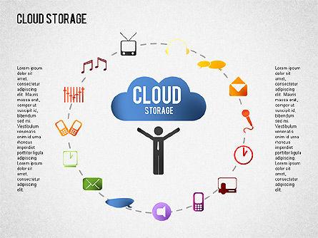 Cloud Storage Infographics, Slide 8, 01433, Business Models — PoweredTemplate.com