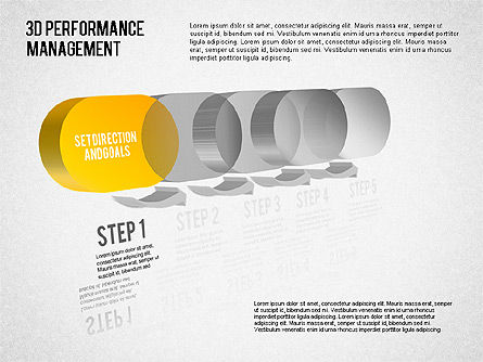Business Models: 3D Performance Management Diagram #01434