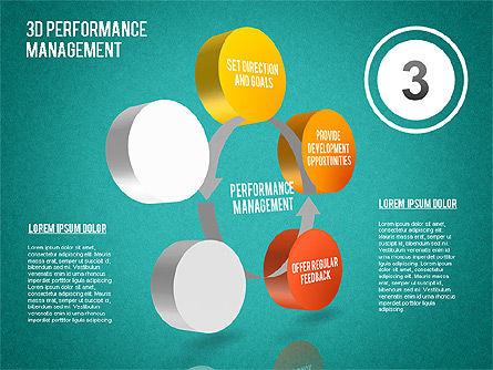 3D Performance Management Diagram, Slide 15, 01434, Business Models — PoweredTemplate.com