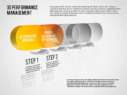 3D Performance Management Diagram, Slide 2, 01434, Business Models — PoweredTemplate.com