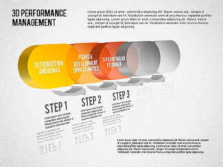 3D Performance Management Diagram, Slide 3, 01434, Business Models — PoweredTemplate.com