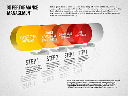 3D Performance Management Diagram, Slide 4, 01434, Business Models — PoweredTemplate.com
