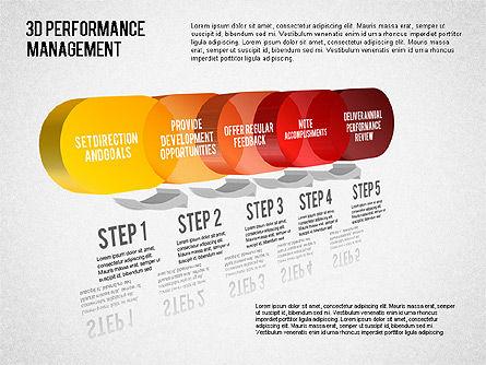 3D Performance Management Diagram, Slide 5, 01434, Business Models — PoweredTemplate.com