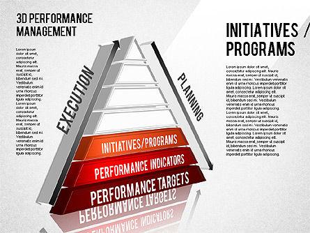 3D Performance Management Diagram, Slide 8, 01434, Business Models — PoweredTemplate.com