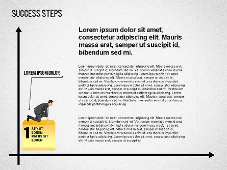 Success Development Diagram, 01435, Stage Diagrams — PoweredTemplate.com