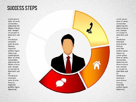 Success Development Diagram, Slide 10, 01435, Stage Diagrams — PoweredTemplate.com