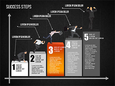 Success Development Diagram, Slide 15, 01435, Stage Diagrams — PoweredTemplate.com