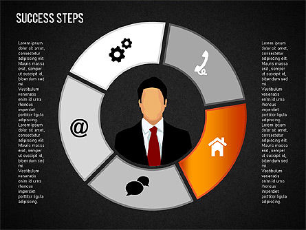 Success Development Diagram, Slide 16, 01435, Stage Diagrams — PoweredTemplate.com