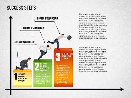 Success Development Diagram, Slide 3, 01435, Stage Diagrams — PoweredTemplate.com
