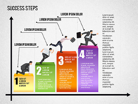 Success Development Diagram, Slide 4, 01435, Stage Diagrams — PoweredTemplate.com