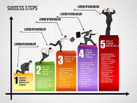 Success Development Diagram, Slide 5, 01435, Stage Diagrams — PoweredTemplate.com
