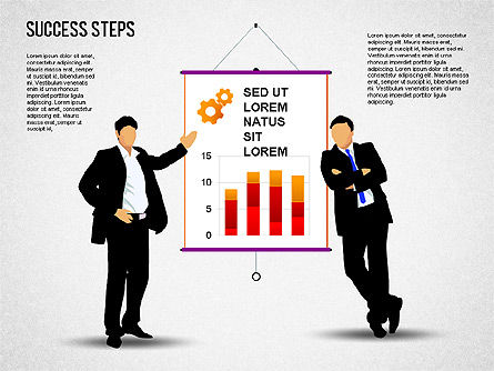 Success Development Diagram, Slide 6, 01435, Stage Diagrams — PoweredTemplate.com