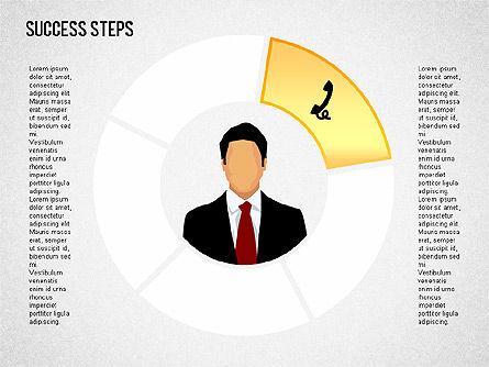 Success Development Diagram, Slide 8, 01435, Stage Diagrams — PoweredTemplate.com