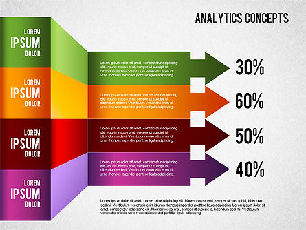 Analytics Concepts Charts, 01439, Business Models — PoweredTemplate.com