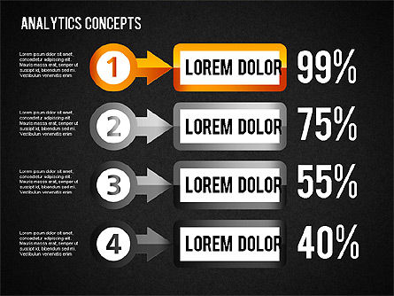 Analytics Concepts Charts, Slide 16, 01439, Business Models — PoweredTemplate.com
