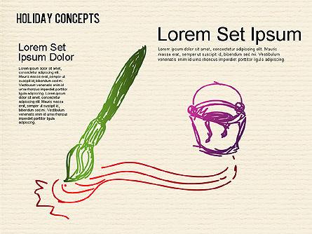 Holiday Concept Shapes, Slide 6, 01441, Shapes — PoweredTemplate.com