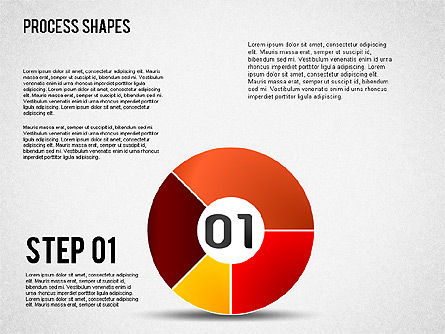 Pie Charts with Process Diagrams, 01442, Business Models — PoweredTemplate.com
