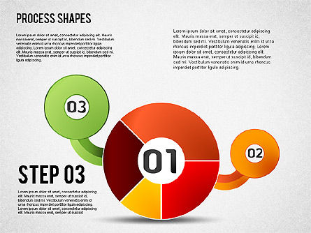 Pie Charts with Process Diagrams, Slide 3, 01442, Business Models — PoweredTemplate.com