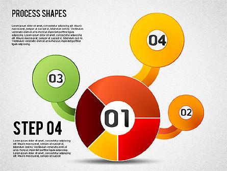 Pie Charts with Process Diagrams, Slide 4, 01442, Business Models — PoweredTemplate.com