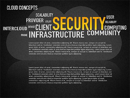 Word Cloud Diagram, Slide 15, 01443, Business Models — PoweredTemplate.com