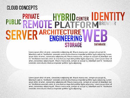 Word Cloud Diagram, Slide 8, 01443, Business Models — PoweredTemplate.com