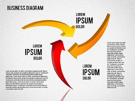Diagrams and Shapes Set, Slide 2, 01444, Business Models — PoweredTemplate.com