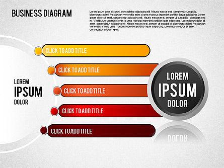 Diagrams and Shapes Set, Slide 4, 01444, Business Models — PoweredTemplate.com